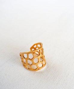 """טבעת """"פסיפס"""" מודרנית"""