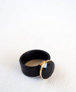Black urban silicone ring