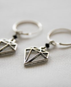 Silver kaya earrings