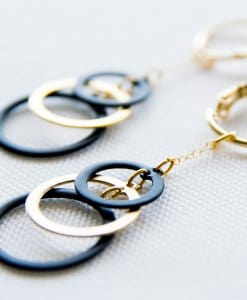 Combined circle earrings