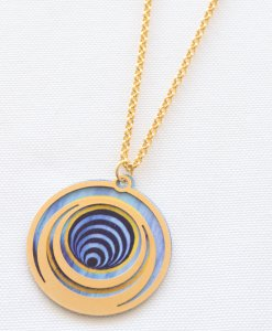 Turquoise spiral charm chain