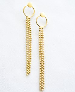 Gold curling earrings