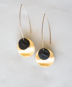 Julia Earrings Black Gold