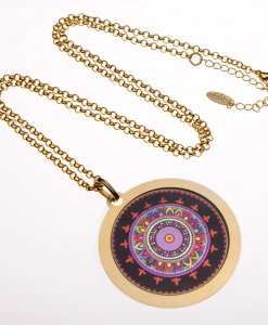 A long mandala necklace