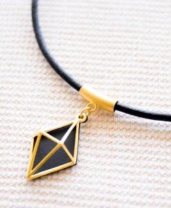 שרשרת גי'או שחור זהב