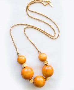 Orange Wood Tatch Necklace
